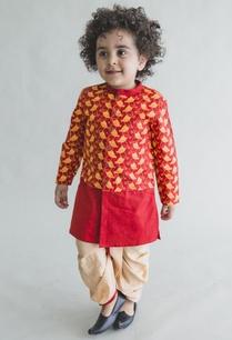 blocked-printed-kurta-dhoti-pants-set
