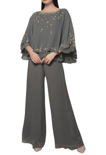embroidered-cape-jumpsuit