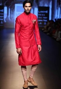 nehru-jacket-with-kurta-and-churidar