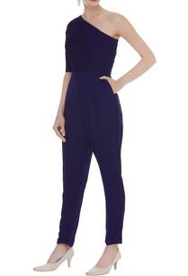 one-shoulder-textured-jumpsuit