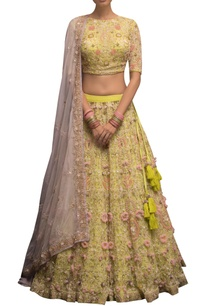 embellished-blouse-with-lehenga-dupatta