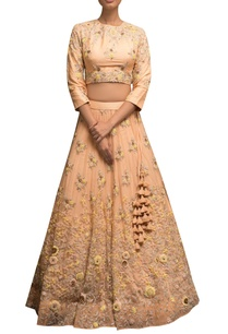 embellished-blouse-with-lehenga
