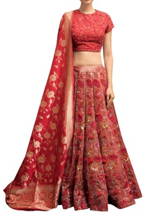 embroidered-blouse-with-lehenga-dupatta