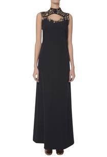 embellished-neckline-keyhole-gown
