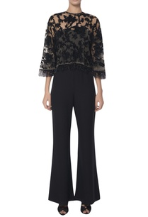 embroidered-cape-with-off-shoulder-jumpsuit