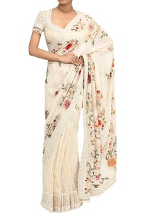 gara-embroidered-saree-with-fringe-blouse