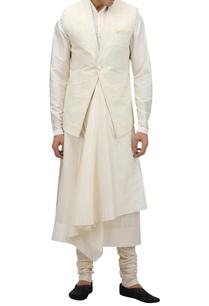 textured-motif-nehru-jacket-with-pocket-square