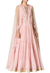 embroidered-gown-with-cape-detail