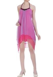 lilac-chiffon-embellished-short-dress