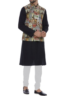 printed-nehru-jacket-with-utility-pockets