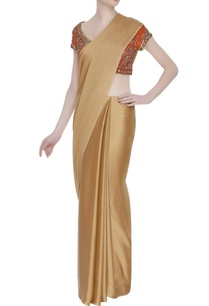 embroidered-saree-blouse-with-cap-sleeves