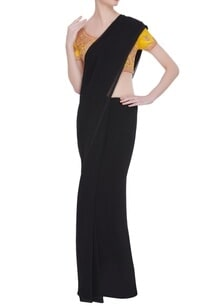 gota-embroidered-saree-blouse