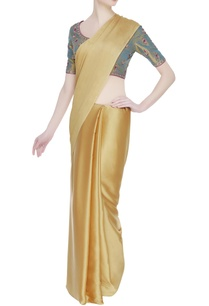 embroidered-saree-blouse-with-zippered-closure