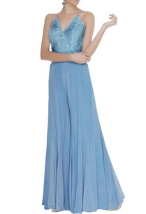 flared-jumpsuit-with-pleated-yoke