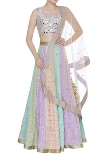 mirror-embroidered-blouse-with-panelled-lehenga-set
