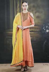 orange-dori-work-kurta-with-palazzos