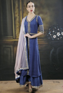 blue-dori-work-kurta-with-palazzos