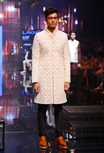 vanilla-embroidered-sherwani-with-silk-kurta-churidaar