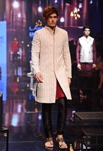 white-embroidered-sherwani-with-wine-kurta-set