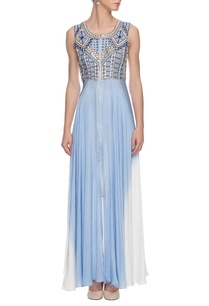 white-blue-embroidered-maxi-dress