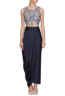 blue-embroidered-crop-top-skirt
