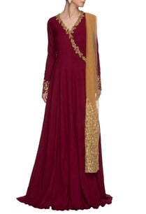 maroon-gold-angarakha-anarkali-with-dupatta