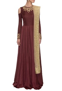 burgundy-embroidered-anarakali%c2%a0