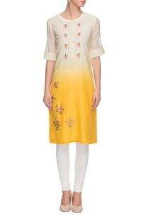 yellow-white-embroidered-kurta