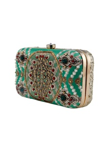 green-moti-printed-clutch