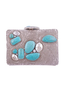 silver-turquoise-blue-stone-embellished-clutch