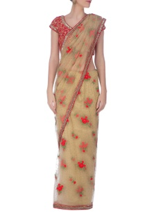 beige-red-embroidered-sari%c2%a0