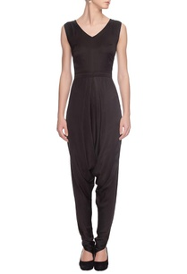 black-dhoti-patterned-jumpsuit