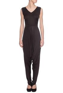 black-dhoti-patterned-jumpsuit
