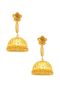 yellow-green-studded-jhumkas