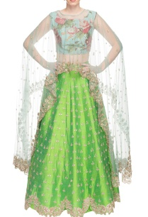 powder-blue-cape-with-green-embroidered-lehenga