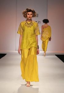 mustard-yellow-kurta-with-matching-sharara