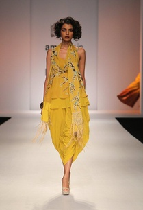 mustard-yellow-floral-printed-top-with-dhoti-pants