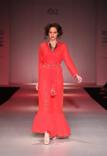 scarlett-red-column-dress-with-floral-printed-pants