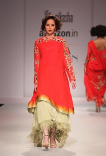 scarlett-red-flared-kurta-with-cream-fringed-skirt