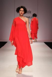 scarlett-red-one-off-shoulder-maxi-dress