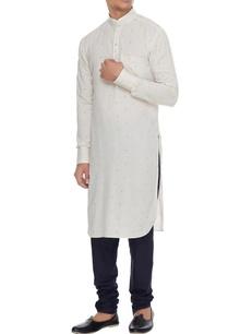 off-white-blue-cotton-printed-kurta-with-churidar