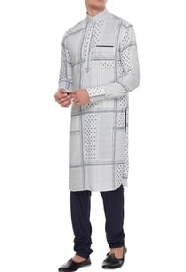 off-white-blue-cotton-printed-kurta-with-churidar