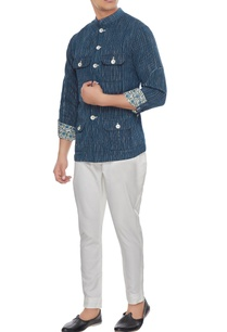 navy-blue-khadi-cotton-shirt