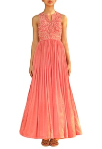 coral-pink-embellished-gown