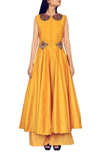 haldi-yellow-embroidered-kurta-with-palazzos