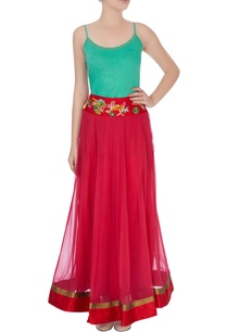 pink-skirt-in-applique-work-spaghetti-top