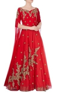 red-jaal-metallic-embroidered-gown