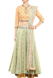 mint-gold-embellished-lehenga-set