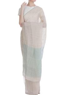polka-jamdani-handwoven-linen-sari