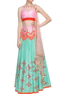aqua-blue-pastel-pink-embellished-lehenga-set